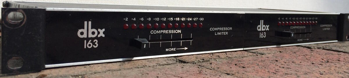 DBX 163 Compressors nbspTwo units in one single space rack available