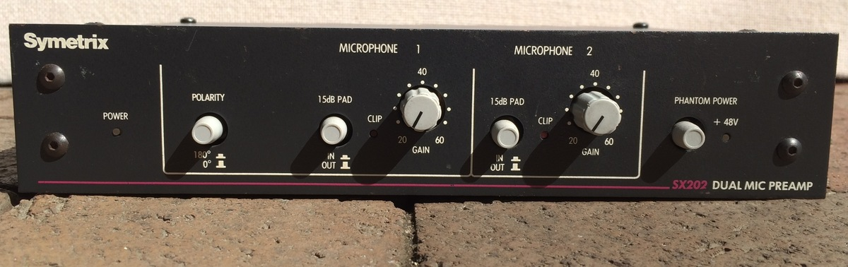 Symetrix SX202 2-Ch Mic Preamp I have a few for sale some with the Modification that makes them quieter and cleaner 475 modded 275 unmodded